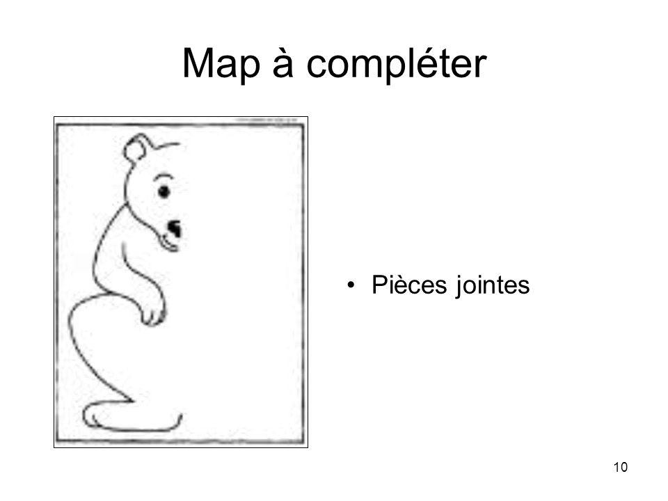 10 Map à compléter Pièces jointes