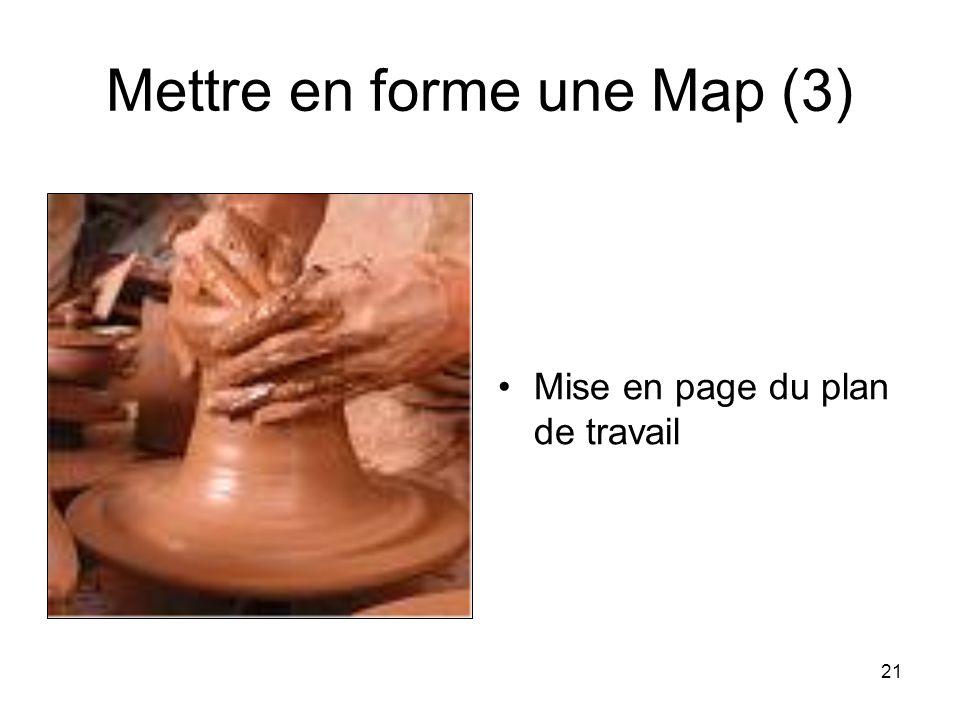 21 Mettre en forme une Map (3) Mise en page du plan de travail