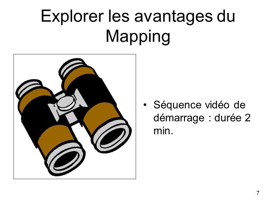7 Explorer les avantages du Mapping Séquence vidéo de démarrage : durée 2 min.
