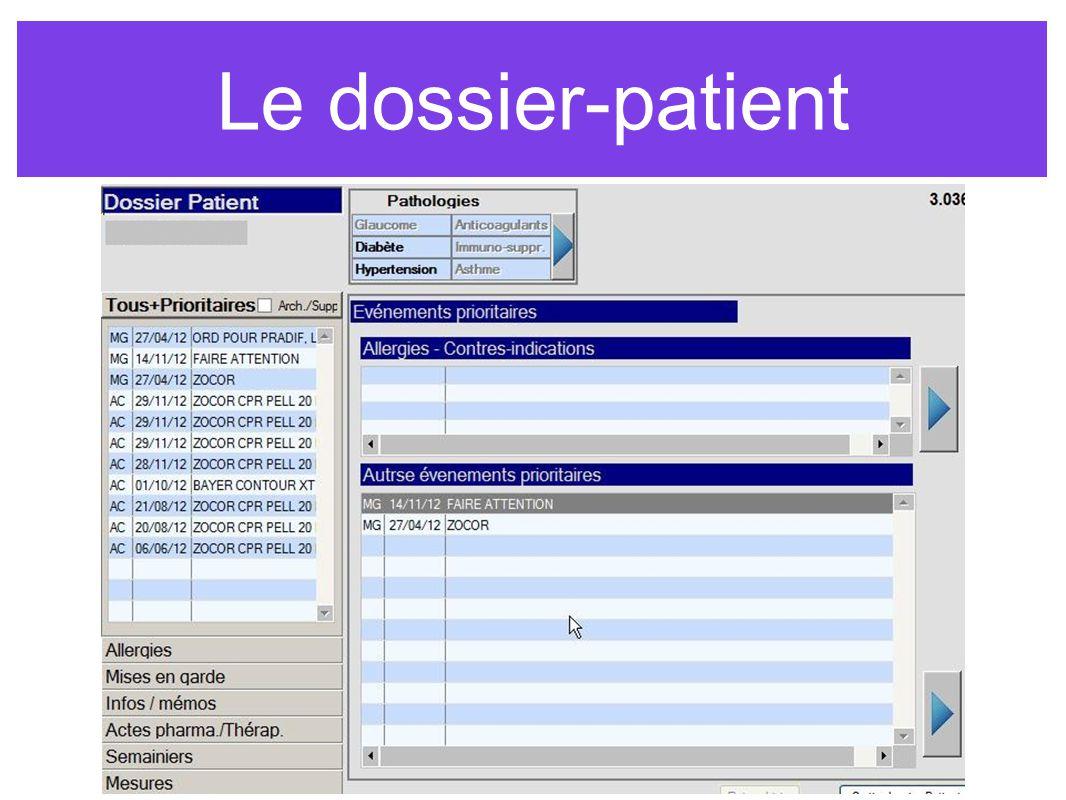Le dossier-patient