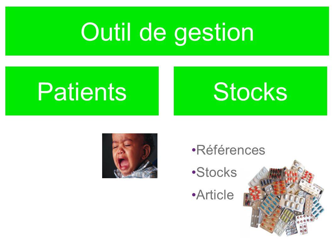 Outil de gestion PatientsStocks Références Stocks Article
