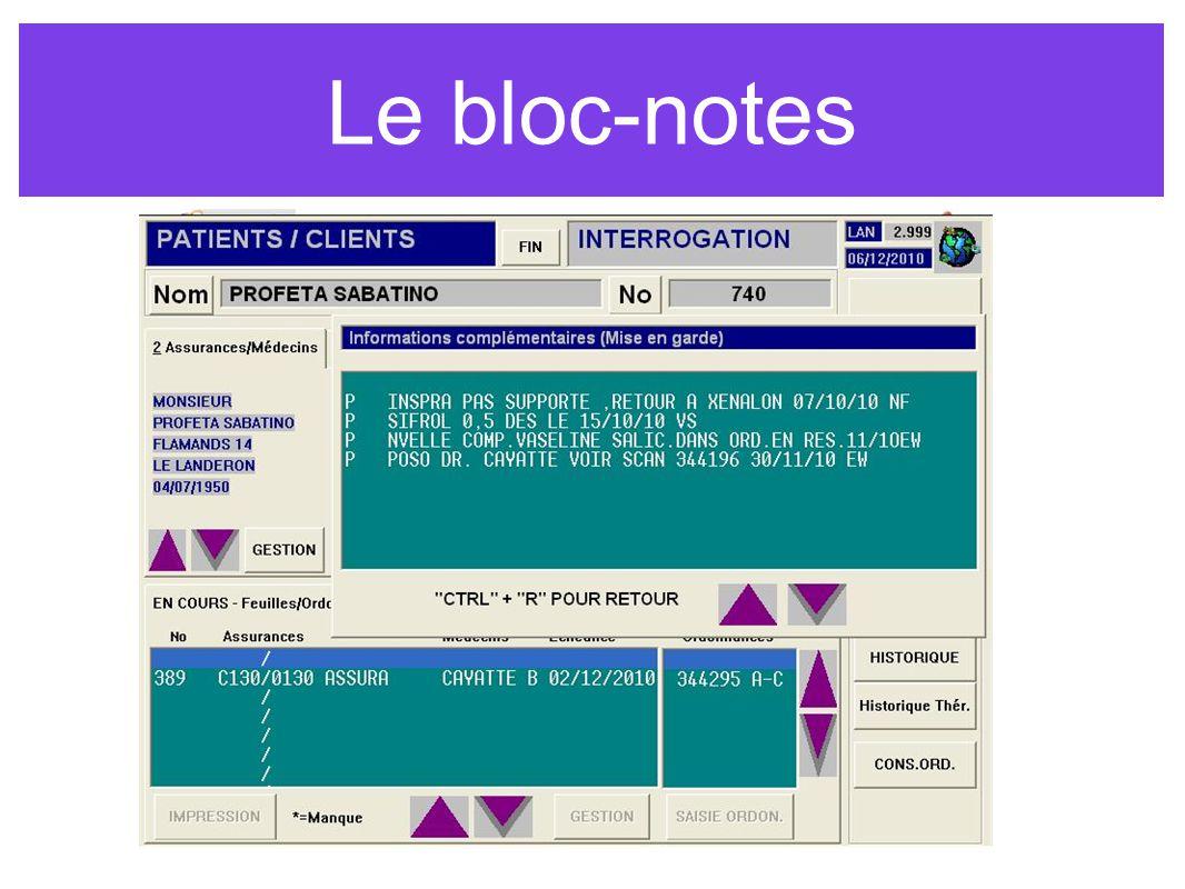 Le bloc-notes