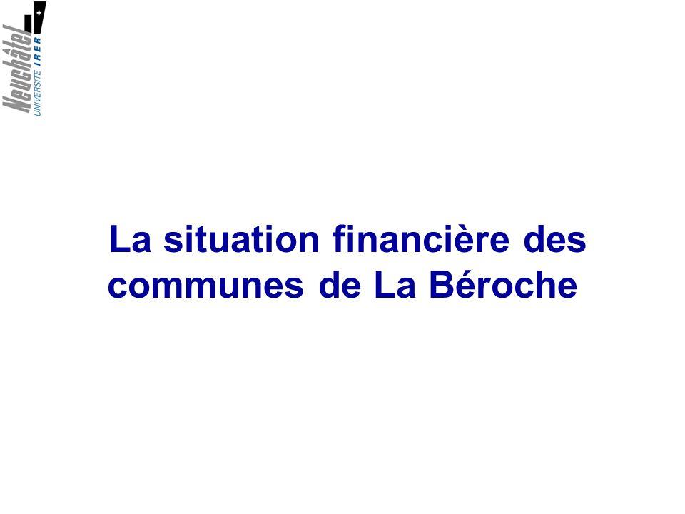 La situation financière des communes de La Béroche
