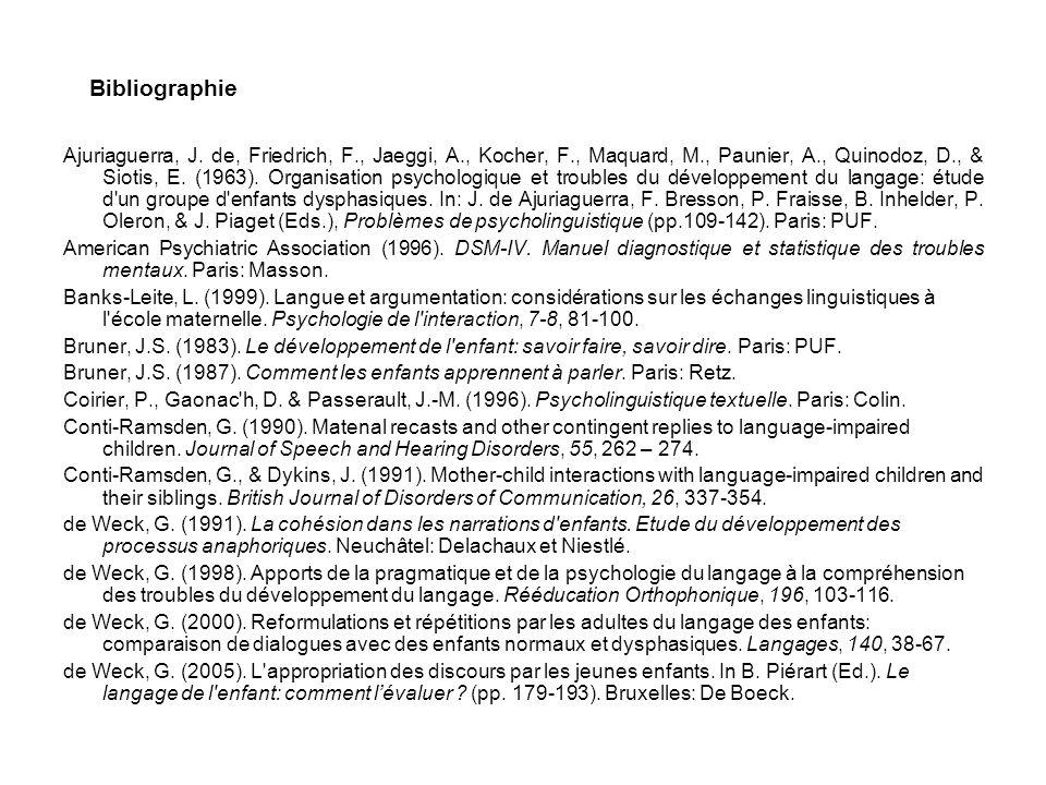 Bibliographie Ajuriaguerra, J.