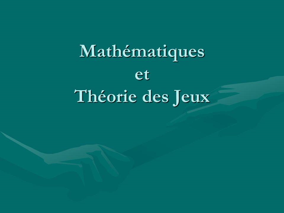Jeux à 2 joueurs et 2 stratégies Théorème : Pour un jeu 2 × 2 (x(n),y(n)) converge presque sûrement vers un équilibre de Nash.