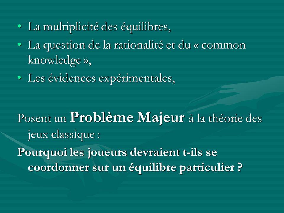 La multiplicité des équilibres,La multiplicité des équilibres, La question de la rationalité et du « common knowledge »,La question de la rationalité