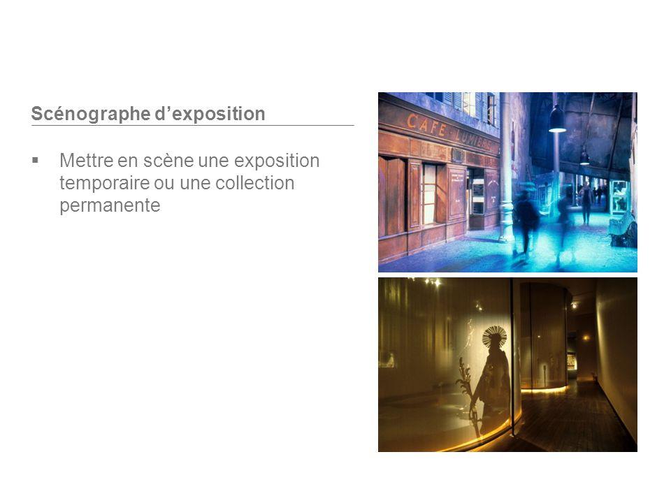 Scénographe dexposition Mettre en scène une exposition temporaire ou une collection permanente