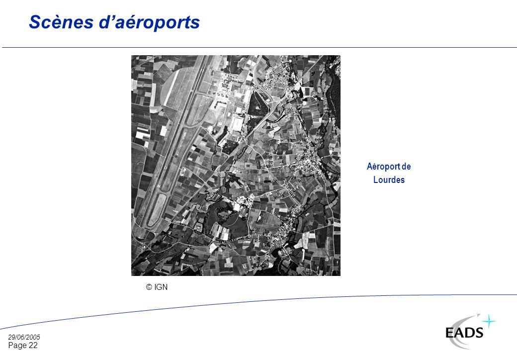 29/06/2005 Page 22 Scènes daéroports © IGN Aéroport de Lourdes