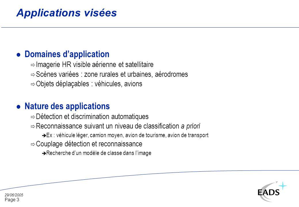 29/06/2005 Page 14 Bases de validation Lexique : l SO : donnée source l SI : donnée simulée l BA : base dapprentissage l BV : base de validation l BR : base de référence l Résolutions : R1 ~ 25 cm R2 ~ 50 cm R3 ~ 75 cm R4 ~ 1 m