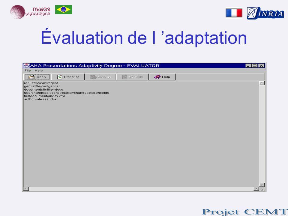 Évaluation de l adaptation
