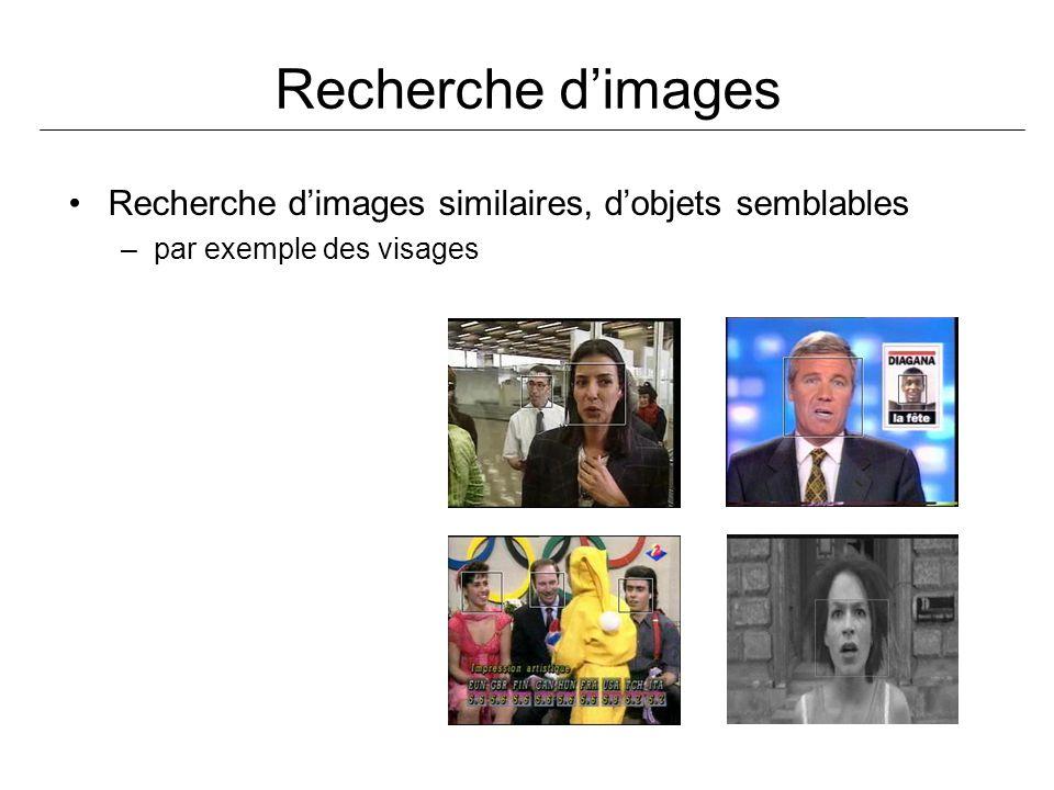Recherche dimages Recherche dimages similaires, dobjets semblables –par exemple des visages