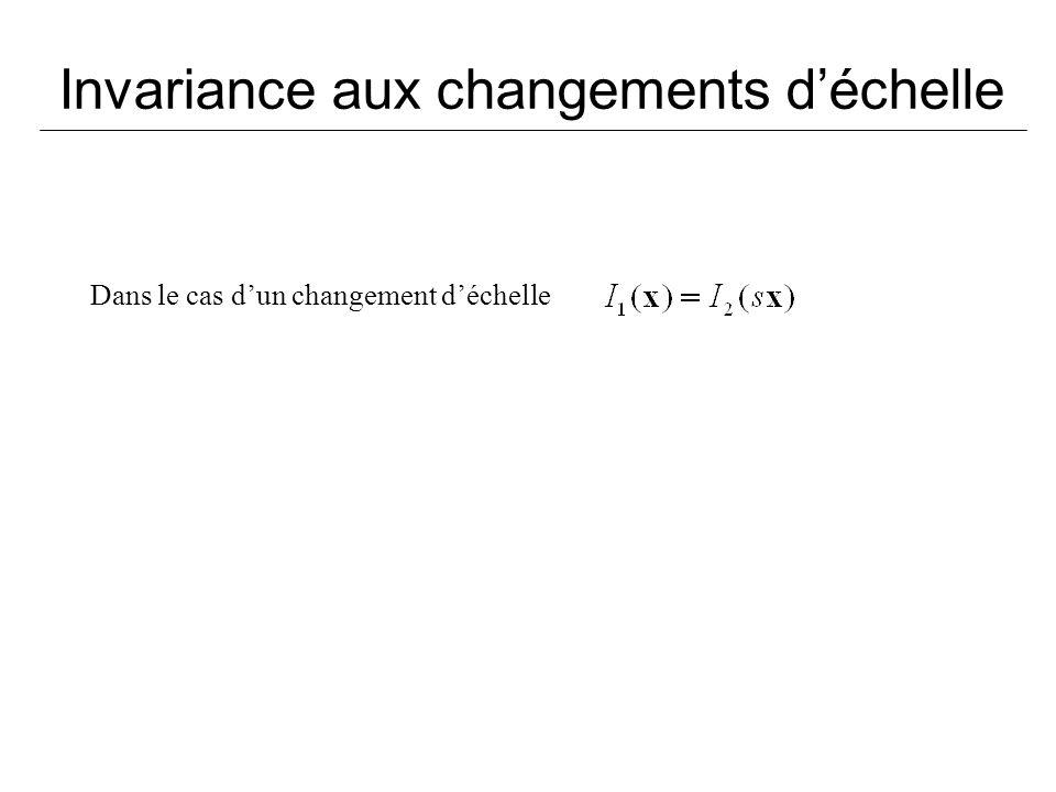 Invariance aux changements déchelle Dans le cas dun changement déchelle