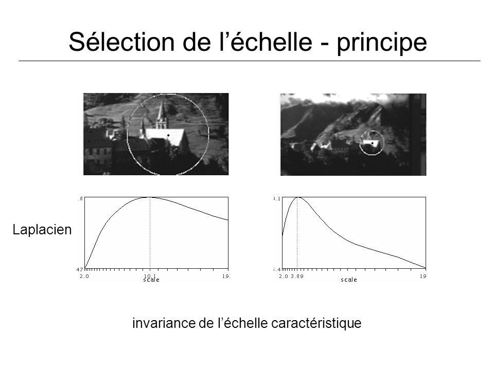 Sélection de léchelle - principe Laplacien invariance de léchelle caractéristique