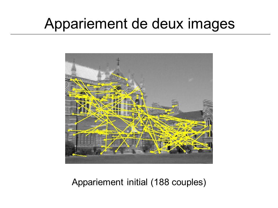 Appariement de deux images Appariement initial (188 couples)