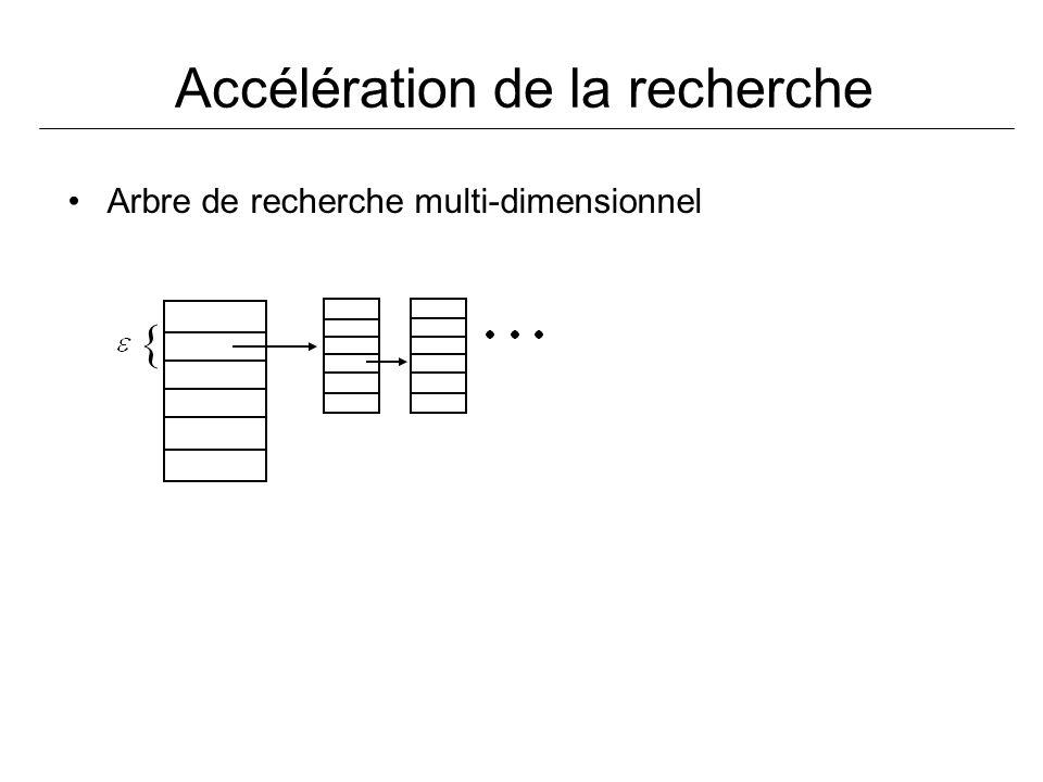 Accélération de la recherche Arbre de recherche multi-dimensionnel {