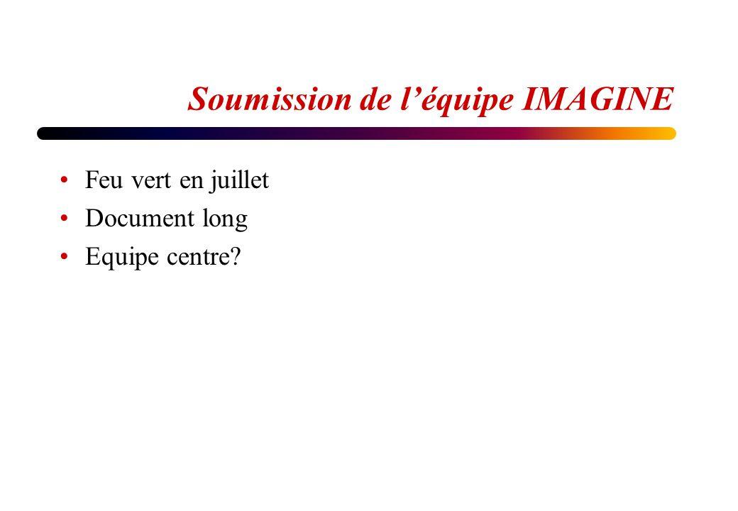 Soumission de léquipe IMAGINE Feu vert en juillet Document long Equipe centre