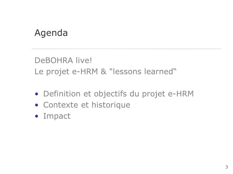 3 Agenda DeBOHRA live.