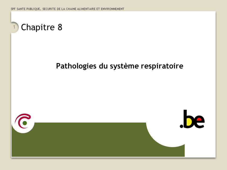 SPF SANTE PUBLIQUE, SECURITE DE LA CHAINE ALIMENTAIRE ET ENVIRONNEMENT 12 Quelques précisions … (1/3) LARDS (Syndrome de Détresse Respiratoire de lAdulte) On utilise le code 518.5 dans TOUS les cas, indépendamment de létiologie de lARDS Le Bronchospasme On ne le code pas sil entre dans une pathologie comme lAsthme ou la BPCO Sil survient isolément, on utilise le code 786.07 « Wheezing » (contrairement aux indications de lIndex, qui propose le code 519.1 Other disease of trachea and bronchus, not elsewhere classified )