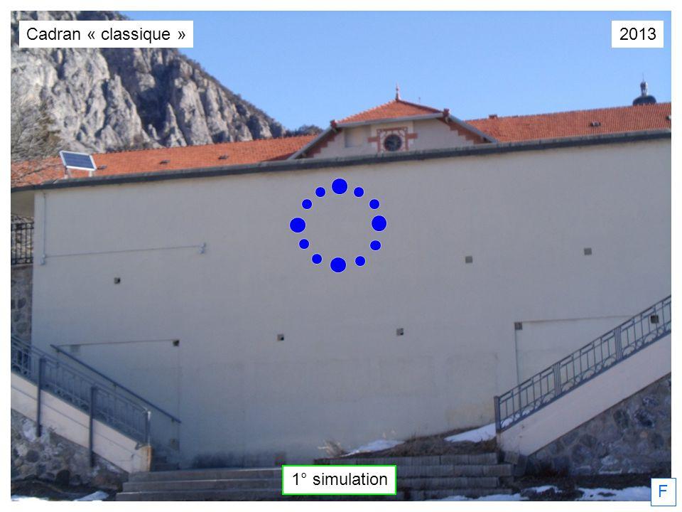 2013 1° simulation F Cadran « classique »