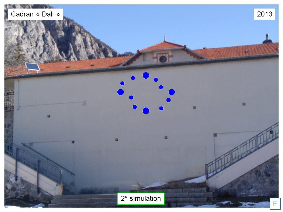 2° simulation F Cadran « Dali »2013