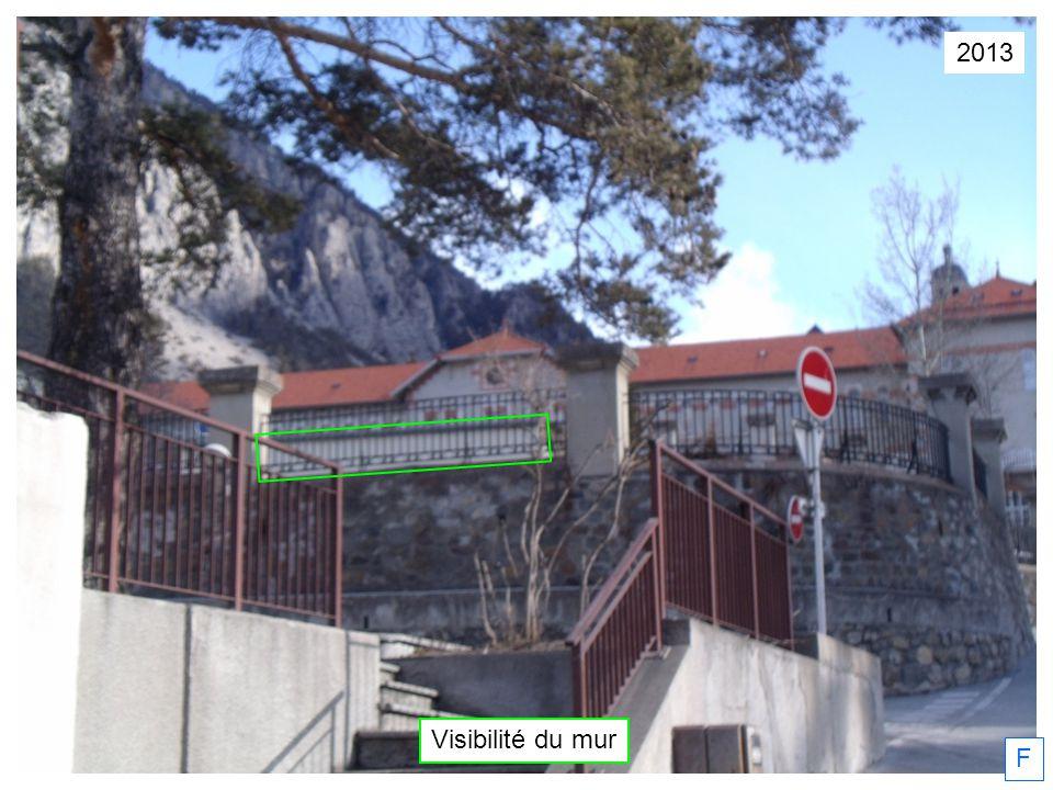 F Visibilité du mur 2013