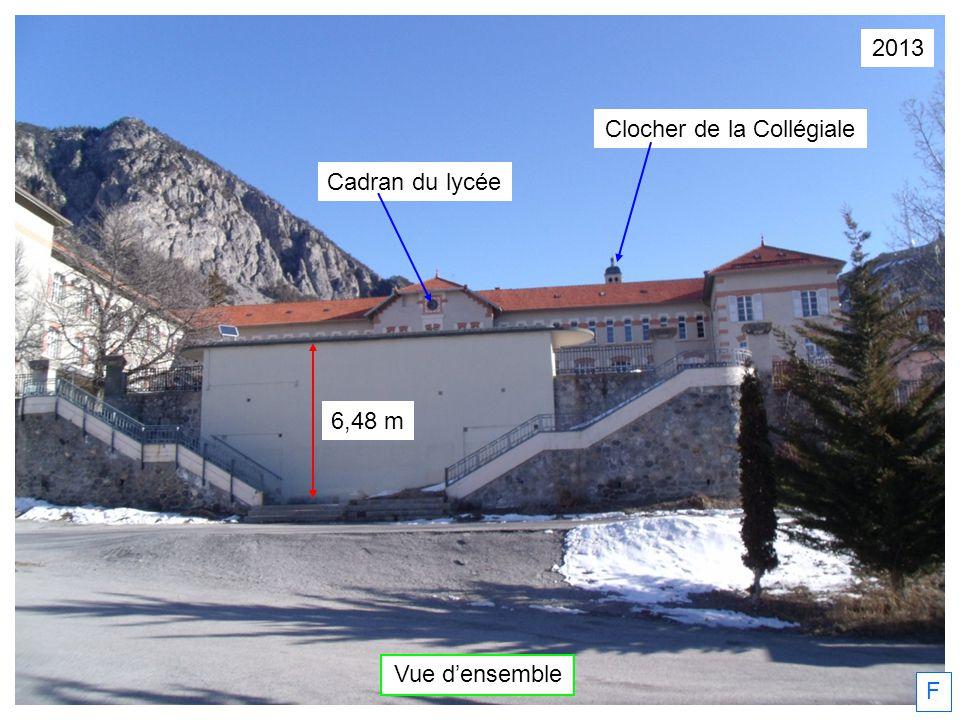 2013 Vue densemble F Clocher de la Collégiale Cadran du lycée 6,48 m
