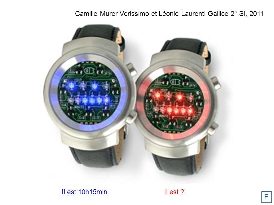 Il est 10h15min.Il est ? F Camille Murer Verissimo et Léonie Laurenti Gallice 2° SI, 2011
