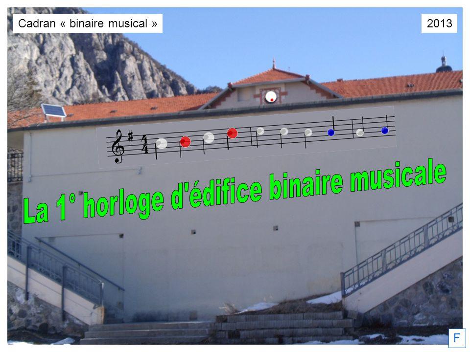 F Cadran « binaire musical »2013