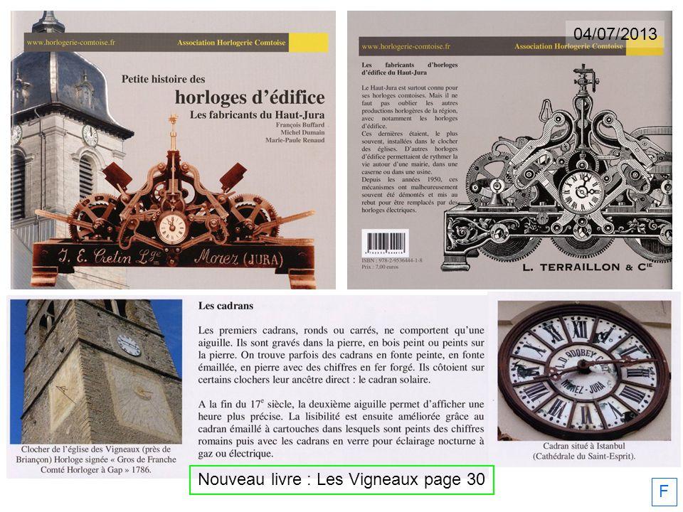 F Nouveau livre : Les Vigneaux page 30 04/07/2013