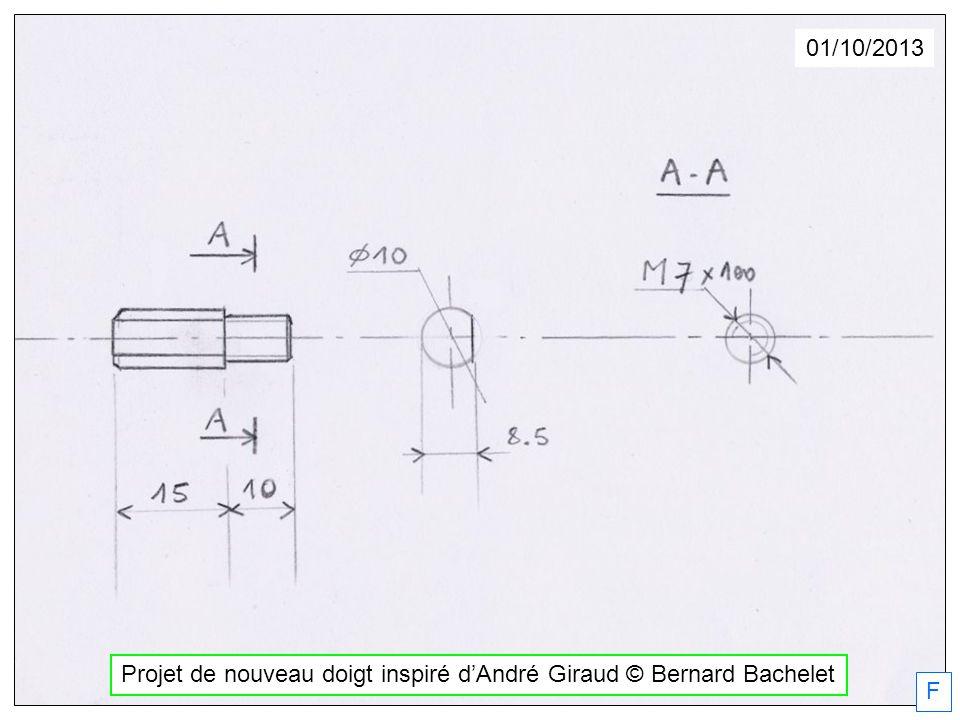 Projet de nouveau doigt inspiré dAndré Giraud © Bernard Bachelet 01/10/2013 F