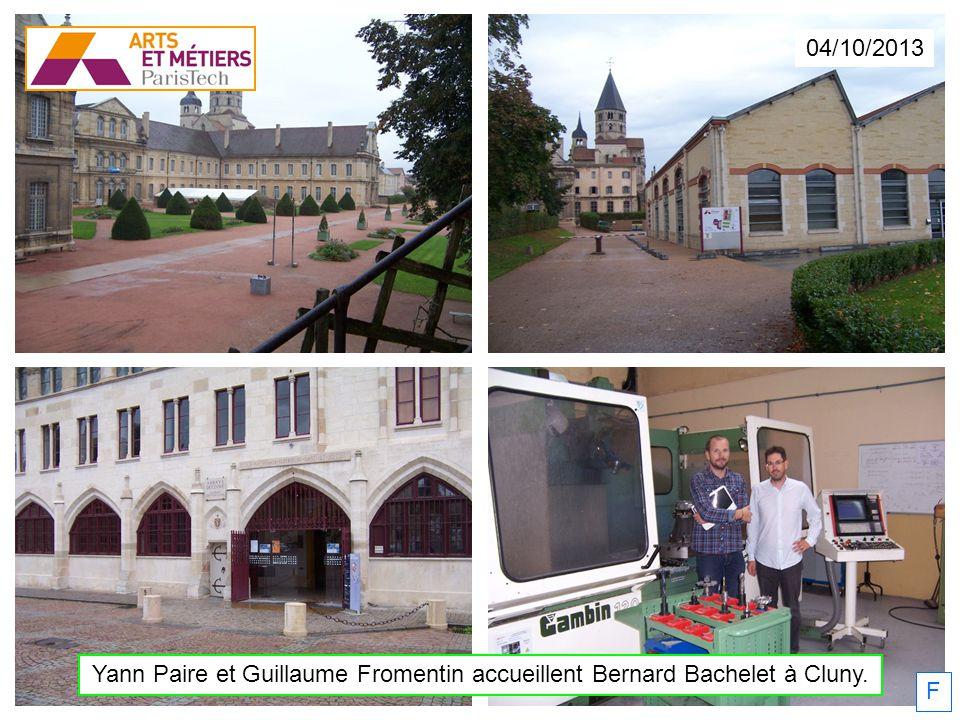 Yann Paire et Guillaume Fromentin accueillent Bernard Bachelet à Cluny. 04/10/2013 F