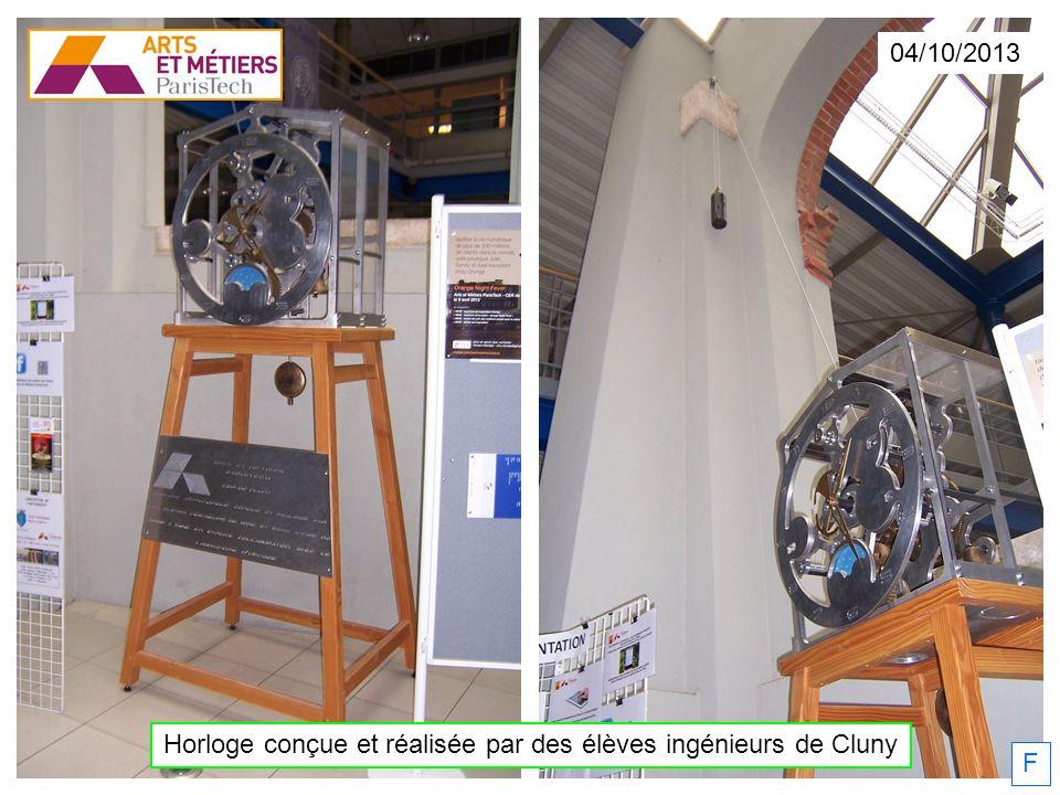 Horloge conçue et réalisée par des élèves ingénieurs de Cluny 04/10/2013 F