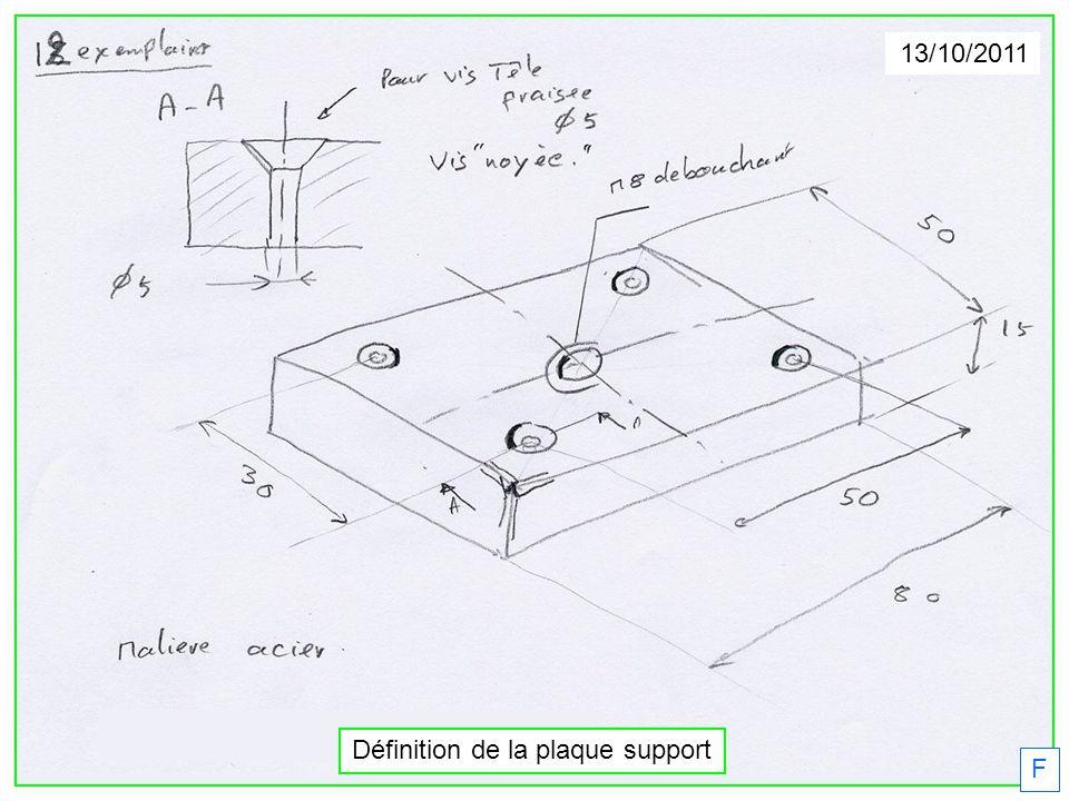 F 13/10/2011 Définition de la plaque support