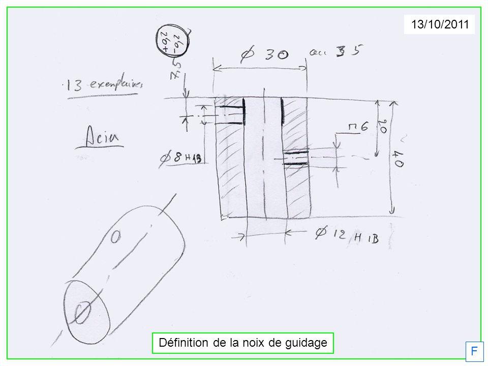 F 13/10/2011 Définition de la noix de guidage