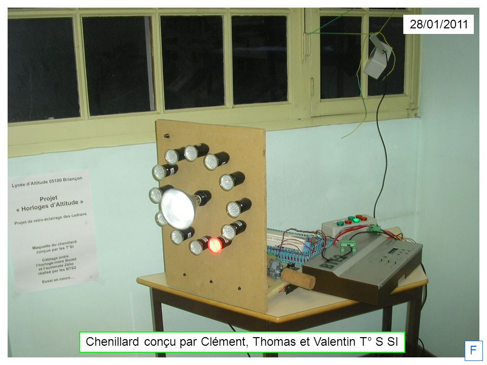 28/01/2011 F Chenillard conçu par Clément, Thomas et Valentin T° S SI