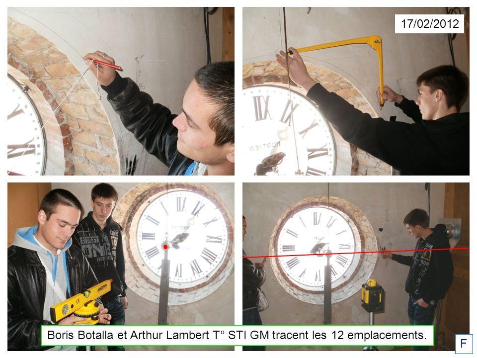 17/02/2012 Boris Botalla et Arthur Lambert T° STI GM tracent les 12 emplacements. F