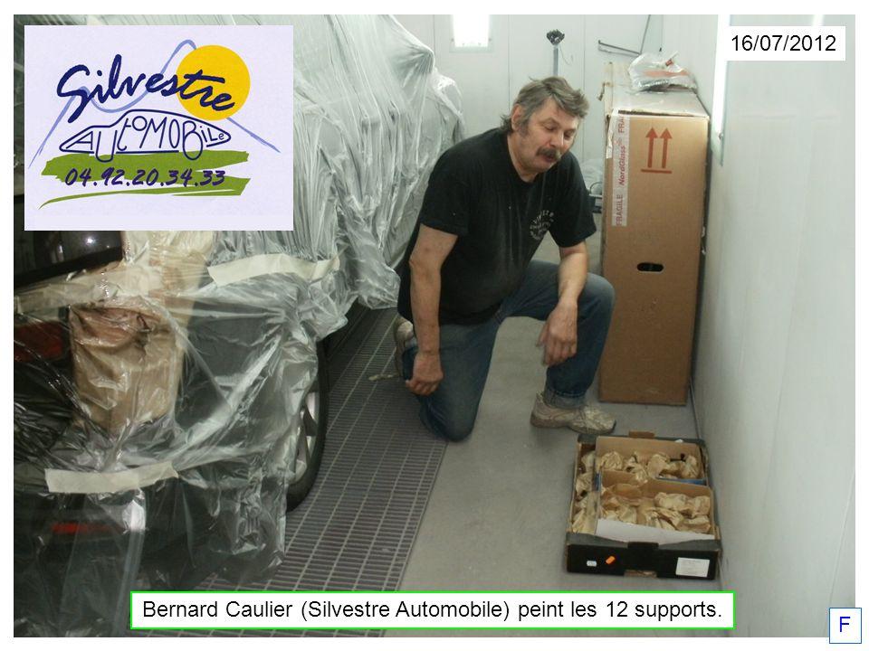 16/07/2012 Bernard Caulier (Silvestre Automobile) peint les 12 supports. F