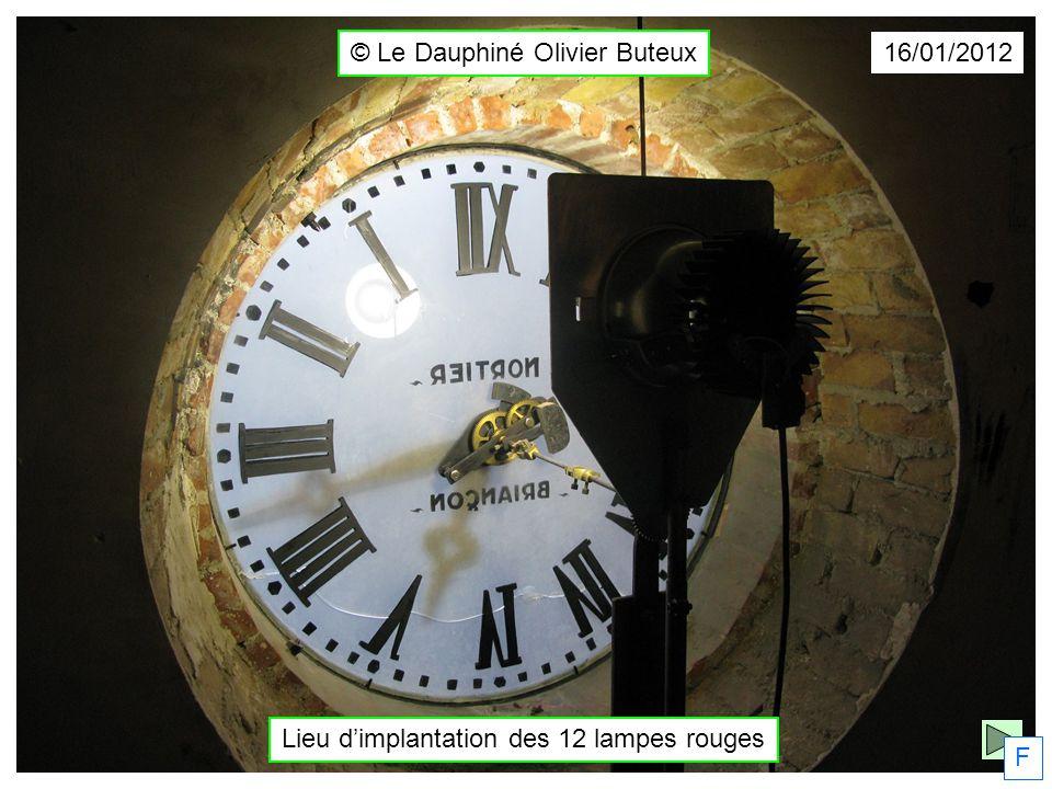 © Le Dauphiné Olivier Buteux F 16/01/2012 Lieu dimplantation des 12 lampes rouges