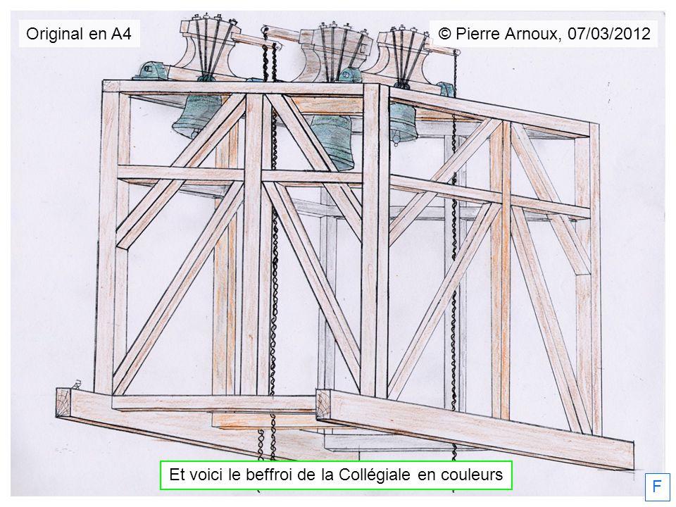 Et voici le beffroi de la Collégiale en couleurs F © Pierre Arnoux, 07/03/2012 Original en A4