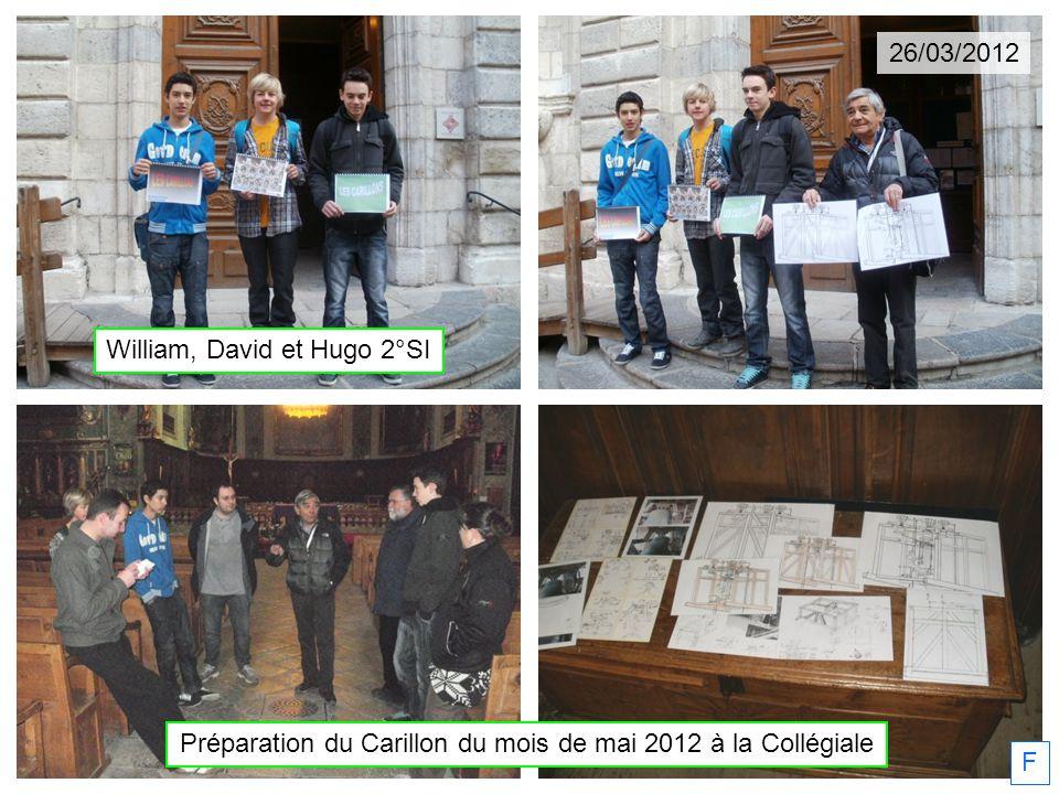 Préparation du Carillon du mois de mai 2012 à la Collégiale F William, David et Hugo 2°SI