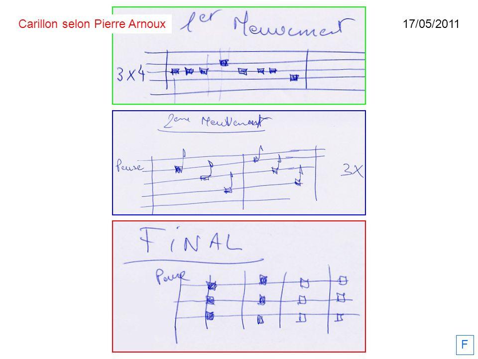 17/05/2011 F Carillon selon Pierre Arnoux
