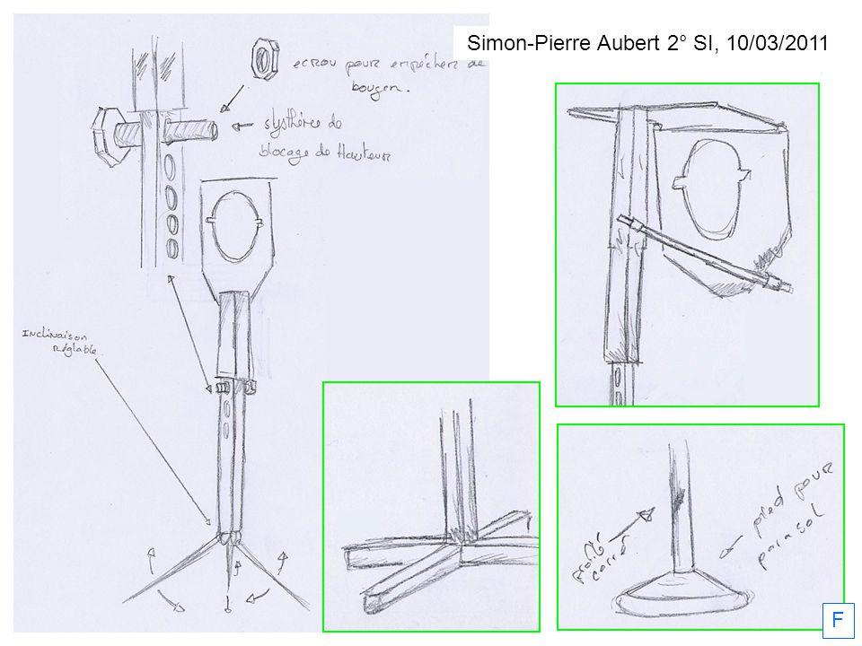 Simon-Pierre Aubert 2° SI, 10/03/2011 F