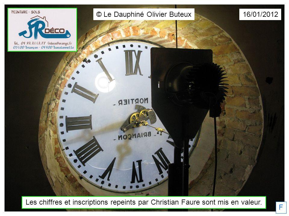 F 16/01/2012 © Le Dauphiné Olivier Buteux Les chiffres et inscriptions repeints par Christian Faure sont mis en valeur.