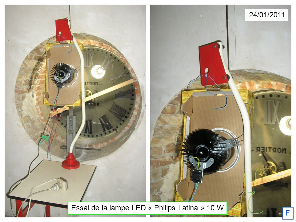 24/01/2011 Essai de la lampe LED « Philips Latina » 10 W F
