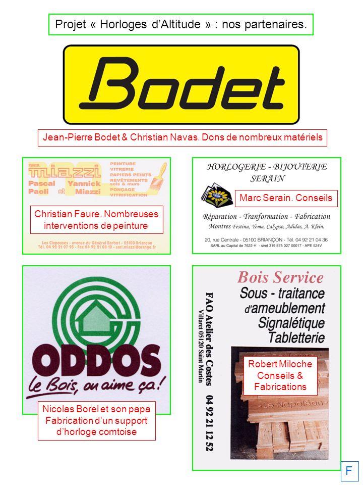 F Jean-Pierre Bodet & Christian Navas.Dons de nombreux matériels Christian Faure.