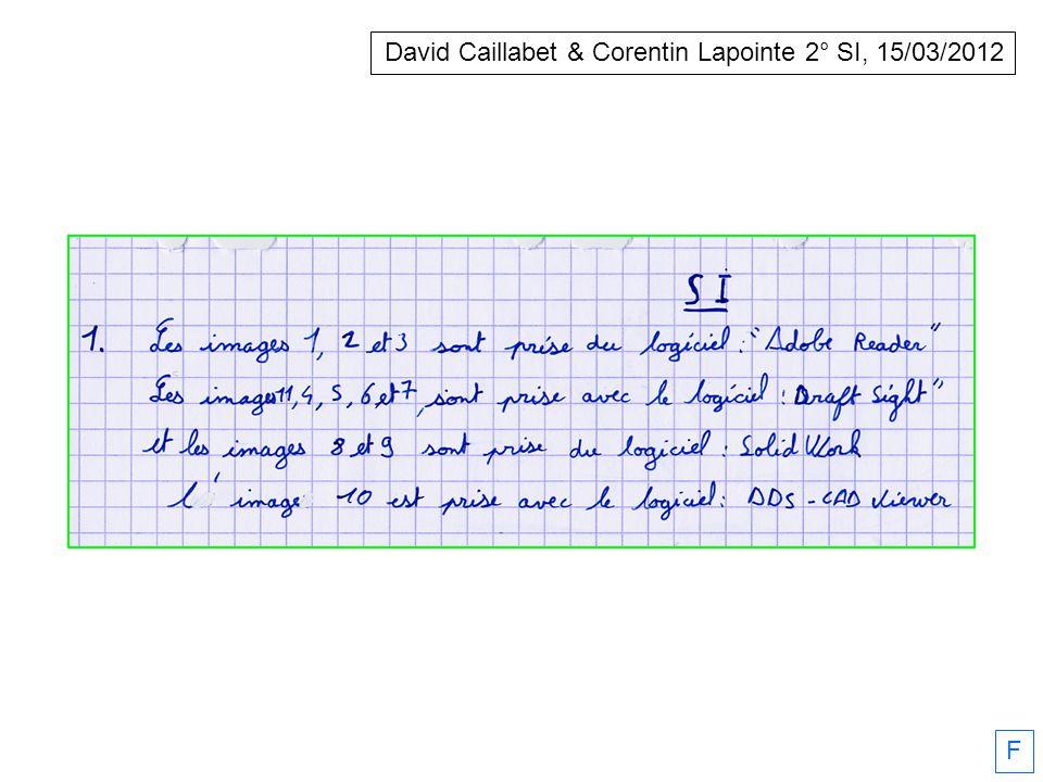 David Caillabet & Corentin Lapointe 2° SI, 15/03/2012 F