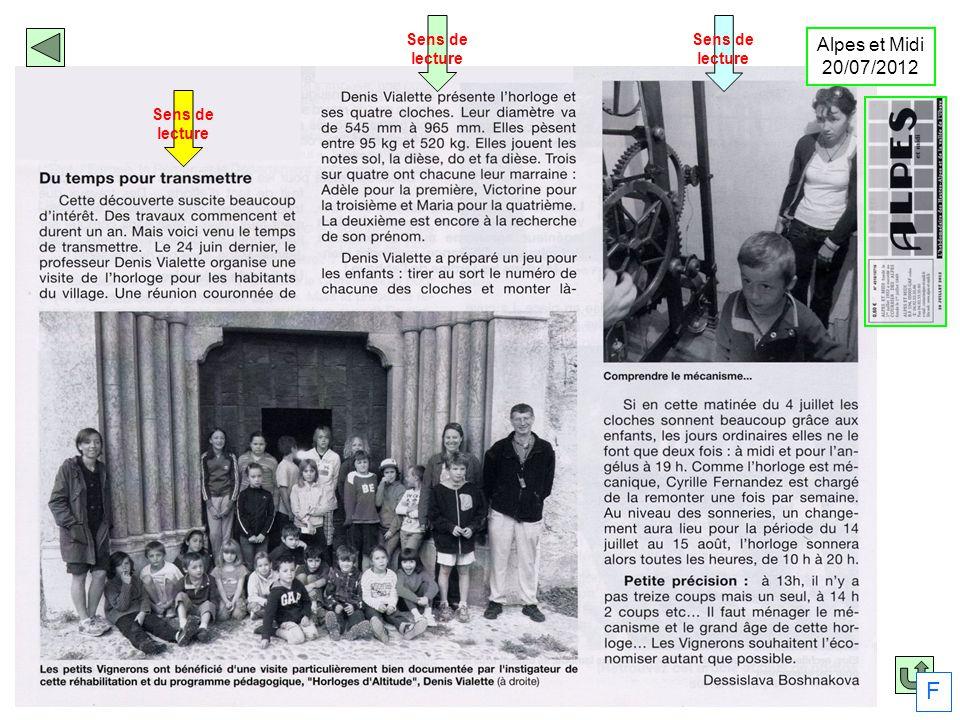 Sens de lecture Sens de lecture Sens de lecture Alpes et Midi 20/07/2012 F
