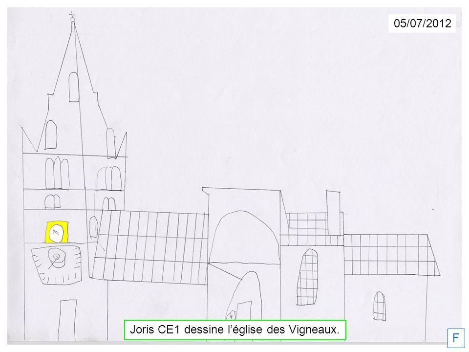 05/07/2012 Joris CE1 dessine léglise des Vigneaux. F