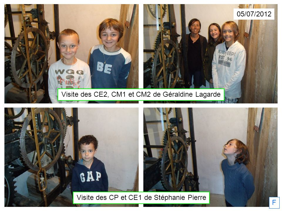05/07/2012 Visite des CP et CE1 de Stéphanie Pierre F Visite des CE2, CM1 et CM2 de Géraldine Lagarde