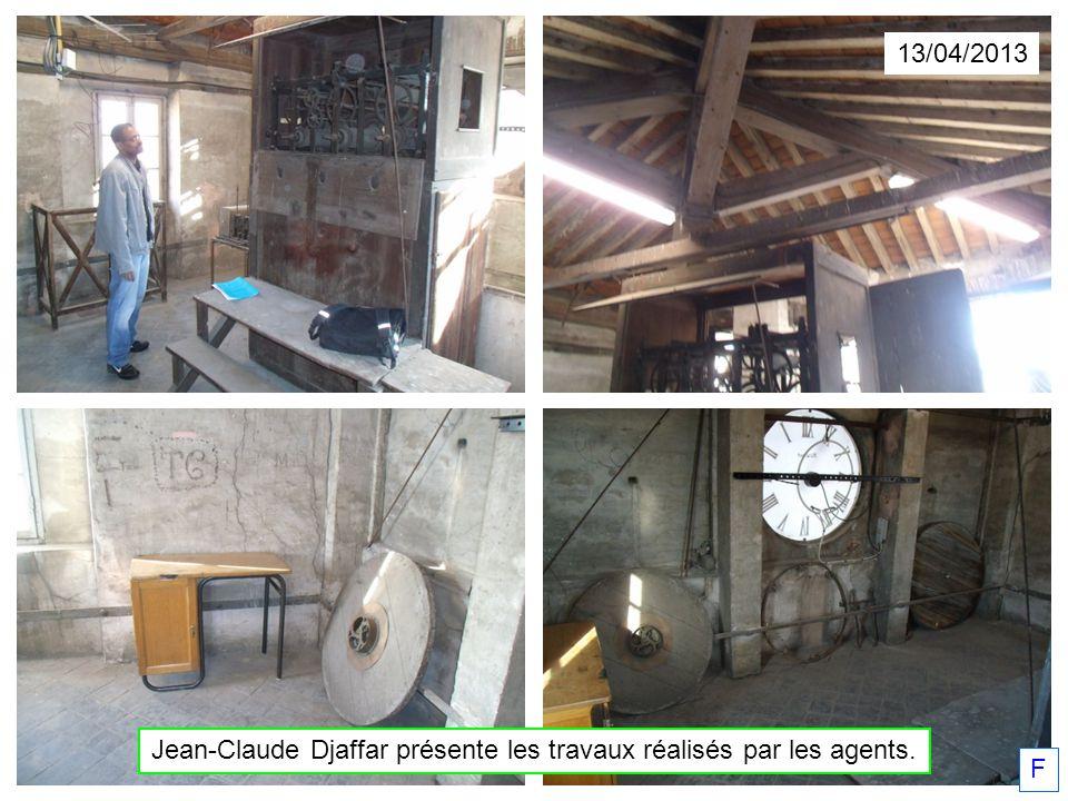 13/04/2013 Jean-Claude Djaffar présente les travaux réalisés par les agents. F